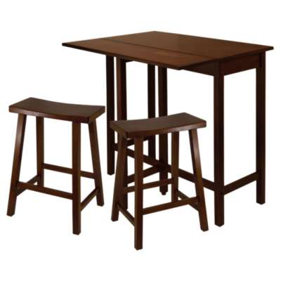 "Picture for Wyatt 3-Piece High Drop Leaf Table with 24"" Saddle Seat Stool"