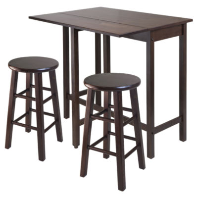 Picture of Wyatt Drop Leaf Island Table with 2 Square Legs Stools