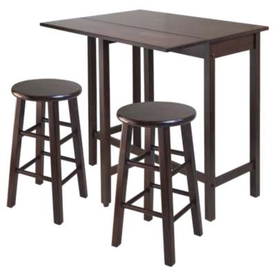 Picture for Wyatt Drop Leaf Island Table with 2 Square Legs Stools