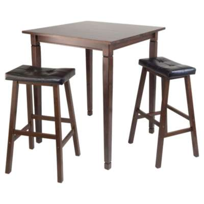 Picture for Stockton 3-Piece High Table Set with Cushioned Saddle Stools