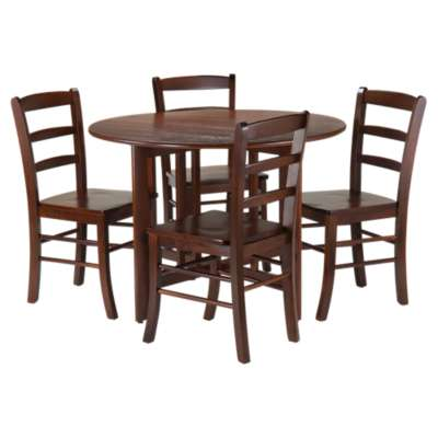 Picture for Sanchez Drop Leaf Table with 4 Ladder Back Chairs