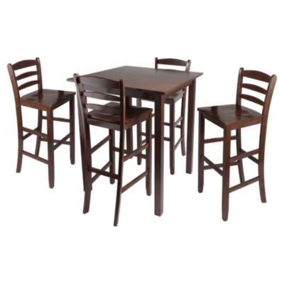 Picture for Daniels 5-Piece Square Pub Table Set with Ladder Back Stools