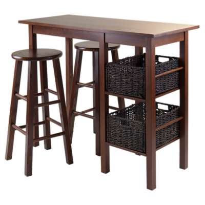 Picture for Carrie 5-Piece Breakfast Table with 2 Baskets and 2 Stools