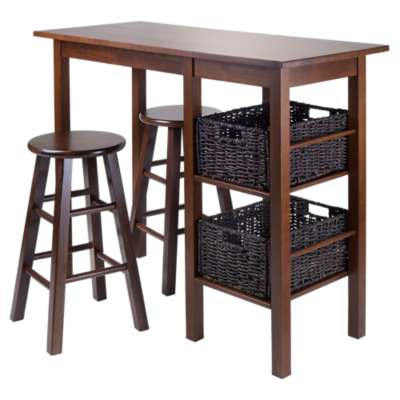 "Picture for Carrie 5-Piece Table with 24"" Square Legs Stools and Baskets"