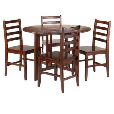 Picture for Sanchez Drop Leaf Table with 4 Hamilton Ladder Back Chairs