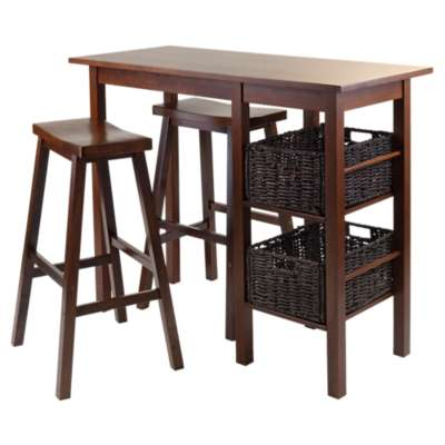 Picture for Carrie 5-Piece Breakfast Table with 2 Baskets and 2 Saddle Seat Stools