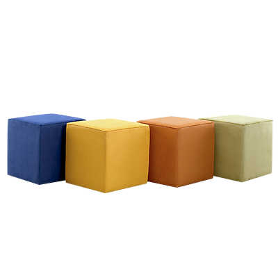 Picture of Small Cube Ottoman by Younger