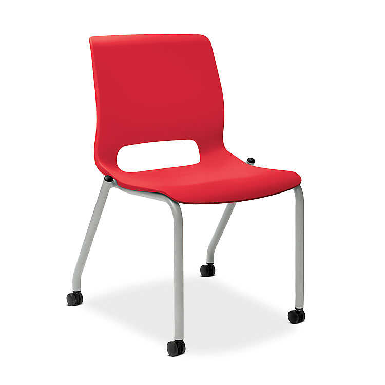 motivate stacking chair 4 leg base by hon set of 2