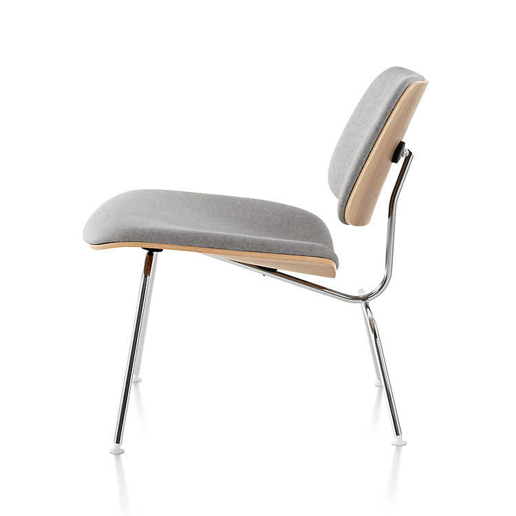 Herman Miller Eames Molded Plywood Lounge Chair Upholstered