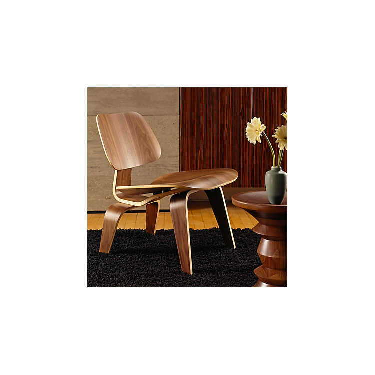 Herman Miller Eames Plywood Lounge Chair with Wooden Legs - Smart