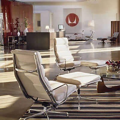 Eames Soft Pad Lounge Chair herman miller eames soft pad lounge set | smart furniture
