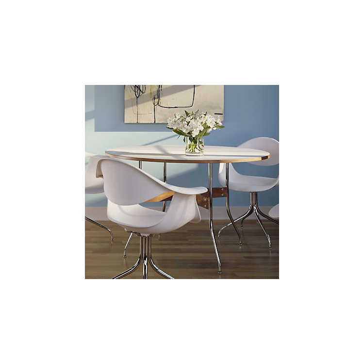On Sale. Picture Of Nelson Swag Leg Round Dining Table By Herman Miller