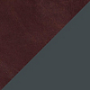 Request Free Oxblood Leather with Oblivion Legs Swatch for the Jumbo Daybench by Blu Dot