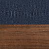 Request Free Toohey Navy/Walnut Swatch for the Chip Bar Stool by Blu Dot