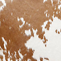 Brown/White Cowhide for Hans Wegner Shell Chair by Carl Hansen (CH07)