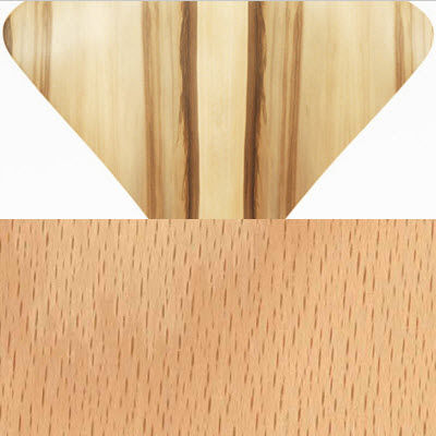 Red Gum Seat,  Beech Legs for Cherner Stool with Wood Base (CHCSTW)