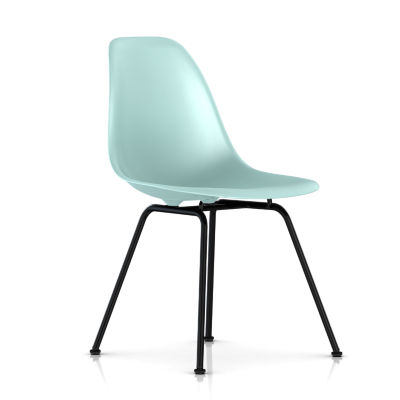 dsxBK4TE8: Customized Item of Eames Molded Plastic Side Chair with 4 Leg Base by Herman Miller (dsx)