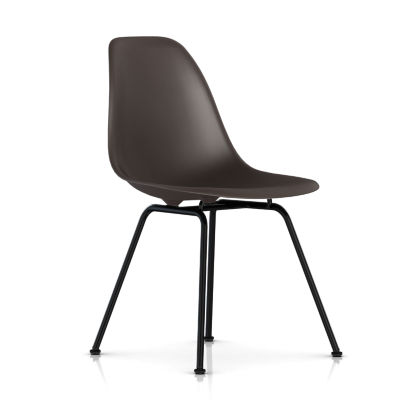 dsxBK5BE8: Customized Item of Eames Molded Plastic Side Chair with 4 Leg Base by Herman Miller (dsx)