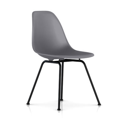 dsxBKCHLE9: Customized Item of Eames Molded Plastic Side Chair with 4 Leg Base by Herman Miller (dsx)