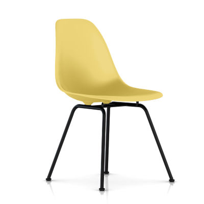 dsx47PYWE8: Customized Item of Eames Molded Plastic Side Chair with 4 Leg Base by Herman Miller (dsx)