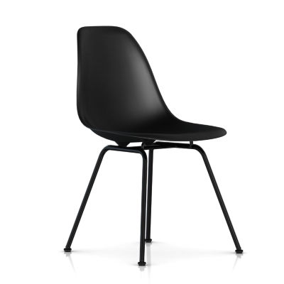 dsx47ZAE8: Customized Item of Eames Molded Plastic Side Chair with 4 Leg Base by Herman Miller (dsx)