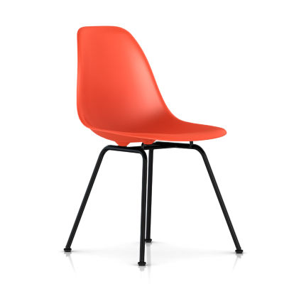 dsx47ZEE8: Customized Item of Eames Molded Plastic Side Chair with 4 Leg Base by Herman Miller (dsx)