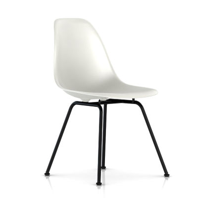 dsx47ZFE9: Customized Item of Eames Molded Plastic Side Chair with 4 Leg Base by Herman Miller (dsx)