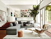 eames lounge and ottoman in white ash smart furniture