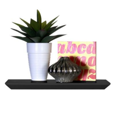 floatshfO24-BLACK: Customized Item of Oliver Floating Shelf by Smart Furniture (floatshfO)