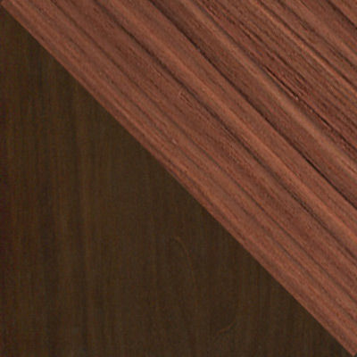 Walnut and Dark Brown Walnut for Nelson Thin Edge Cabinet by Herman Miller (TE2134)