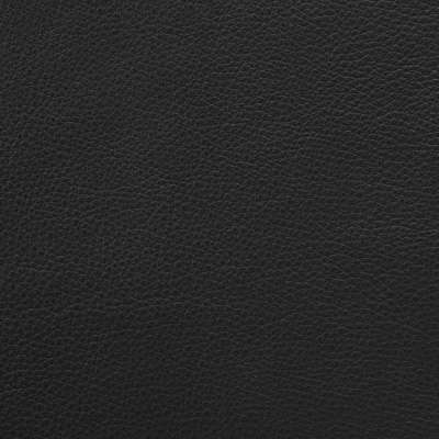 Black MCL Leather for Eames Soft Pad Ottoman by Herman Miller (EA423)