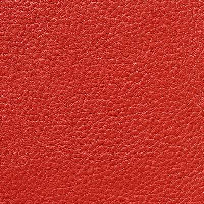Red MCL Leather for Eames Aluminum Lounge Chair with Headrest by Herman Miller (EA322)