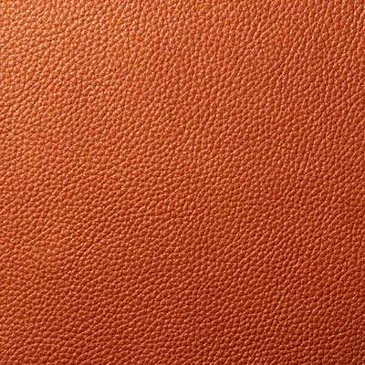 Baked Bean All Grain Leather for Eames Aluminum Lounge Chair with Headrest by Herman Miller (EA322)