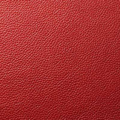 Cherry All Grain Leather for Eames Aluminum Lounge Chair with Headrest by Herman Miller (EA322)
