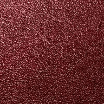 Merlot All Grain Leather for Eames Aluminum Lounge Chair with Headrest by Herman Miller (EA322)