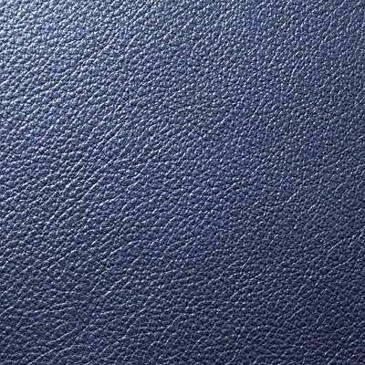 Cobalt Blue Metallic Leather for Eames Soft Pad Ottoman by Herman Miller (EA423)