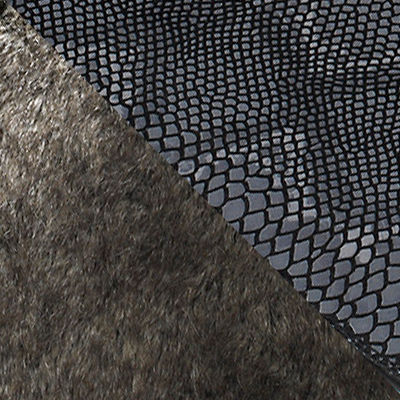 Faux Grey Fur with Python for Mademoiselle Kravitz Chair by Kartell (KTMADKRACH)