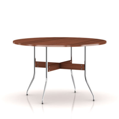 ns5852-WALNUT: Customized Item of Nelson Swag Leg Round Dining Table by Herman Miller (ns5852)