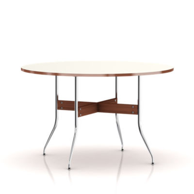 ns5852-WHITE: Customized Item of Nelson Swag Leg Round Dining Table by Herman Miller (ns5852)