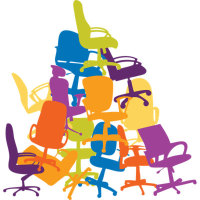 buying an office chair. office chair pile buying an t