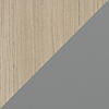Request Free Drift Oak, Fog Gray Swatch for the Margo Cabinet by BDI