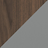 Request Free Toasted Walnut, Fog Gray Swatch for the Margo Cabinet by BDI