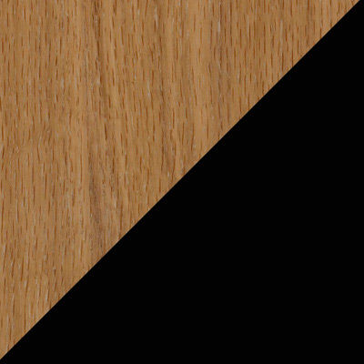 Oak and Black for Slim Barrister Media Shelf (PP0400)