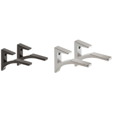 wbclip1-WHITE: Customized Item of Wall Clips, Set of 2 by Smart Furniture (wbclip)