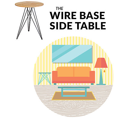 Wire Based Side Table